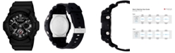 G-Shock Men's Analog Digital Black Resin Strap Watch 55x53mm GA201-1A