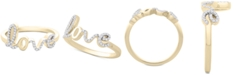 Wrapped Diamond Love Ring (1/6 ct. t.w.) in 14k Gold or 14k White Gold, Created for Macy's