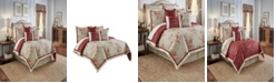 Savannah Home Waverly Fresco Flourish 4 Piece Reversible Full/Queen Comforter Set