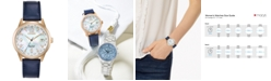 Citizen Eco-Drive Women's World Time (non A-T) Blue Leather Strap Watch 36mm