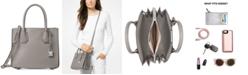 Michael Kors Mercer Pebble Leather Accordion Crossbody