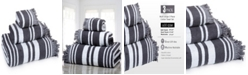 Casa Platino - Multi Stripe with fringe 100% Combed Cotton 3 Piece Towel Set