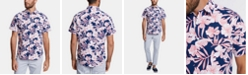 Nautica Nautica Men's Blue Sail Classic-Fit Performance Stretch Floral Shirt, Created for Macy's