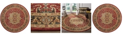 """Safavieh Mahal Natural and Navy 6'7"""" x 6'7"""" Round Area Rug"""