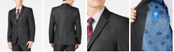 Vince Camuto Men's Slim-Fit Stretch Charcoal Solid Twill Suit Jacket