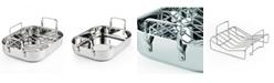 "Cooks Standard 14"" X 12"" Stainless Steel Roaster-Baking Pan with Rack, Rectangular"