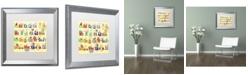 "Trademark Global Jennifer Nilsson ABC's Matted Framed Art - 16"" x 20"" x 0.5"""