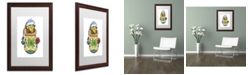 "Trademark Global Jennifer Nilsson Snuggly Warm Dragon Matted Framed Art - 11"" x 14"" x 0.5"""