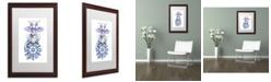 "Trademark Global Jennifer Nilsson Warm Wishes - Dragon Matted Framed Art - 18"" x 24"" x 2"""