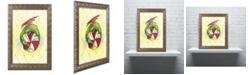"Trademark Global Jennifer Nilsson Peppermint Twist Dragon Ornate Framed Art - 11"" x 14"" x 0.5"""