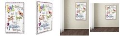 "Trademark Global Jennifer Nilsson Words of Love - Never Fails Canvas Art - 11"" x 14"" x 0.5"""