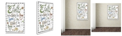 """Trademark Global Jennifer Nilsson Words of Faith - Certainty Canvas Art - 18"""" x 24"""" x 2"""""""