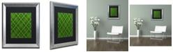 "Trademark Global Jennifer Nilsson Green Diamond Plaid 2 Matted Framed Art - 16"" x 20"" x 0.5"""