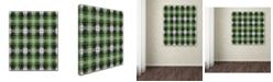 "Trademark Global Jennifer Nilsson Green Gray Check 2 Canvas Art - 11"" x 14"" x 0.5"""