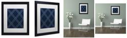 "Trademark Global Jennifer Nilsson Dk Blue Diamond Matted Framed Art - 24"" x 32"" x 2"""