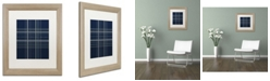 "Trademark Global Jennifer Nilsson Dashed Line Dark Blue Matted Framed Art - 16"" x 20"" x 0.5"""