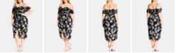 City Chic Trendy Plus Size Honeysuckle Dress
