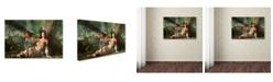 "Trademark Global Daniel Eskridge 'My Little Dragon' Canvas Art - 47"" x 30"" x 2"""