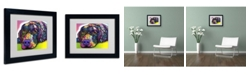 "Trademark Global Dean Russo 'Savvy Labrador' Matted Framed Art - 14"" x 11"" x 0.5"""