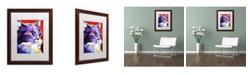 """Trademark Global DawgArt 'Cat Kelsier' Matted Framed Art - 16"""" x 20"""" x 0.5"""""""