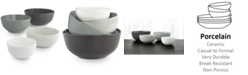 Hotel Collection Hotel Modern Gray Stacking Bowls, Set of 4