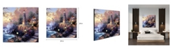 """Chic Home Decor Light House 1 Piece Wrapped Canvas Wall Art By The Sea -24"""" x 24"""""""