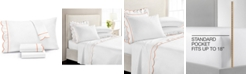 Martha Stewart Collection CLOSEOUT! Signature Scallop 4-Pc. King Sheet Set, 400 Thread Count 100% Cotton Percale, Created for Macy's