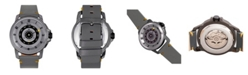 Reign Monarch Automatic Gunmental Case, Genuine Grey Leather Watch 46mm