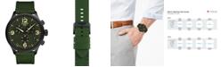 Tissot Men's Swiss Chronograph Chrono XL Green Fabric Strap Watch 45mm