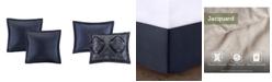 JLA Home Madison Park Ingrid California King 8 Piece Chenille Jacquard Comforter Set
