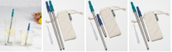 Goodful Collapsible Stainless Steel Metal Straw Set, Created for Macy's