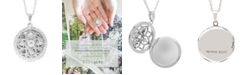 With You Lockets Elsie White Topaz (2-3/4 ct. t.w.) Photo Locket Necklace in Sterling Silver