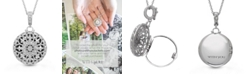 With You Lockets Beatrice Photo Locket Necklace with Diamond Accent in Sterling Silver