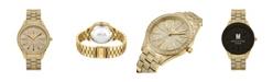 Jbw Women's Cristal Diamond (1/8 ct.t.w.) 18k Gold Plated Stainless Steel Watch