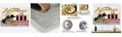 Design Art Designart Glam 3 Panels Metal Wall Clock