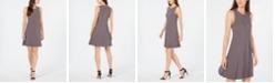 Anne Klein Dot-Print Fit & Flare Dress