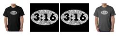 LA Pop Art Mens Word Art T-Shirt - John 3:16