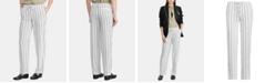 Lauren Ralph Lauren Stripe-Print Lightweight Straight Pants