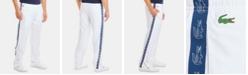 Lacoste Men's Tapered-Fit Croc-Taped Diamond Taffeta Track Pants