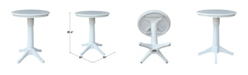 """International Concepts 30"""" Round Top Pedestal Table- 34.9""""H"""