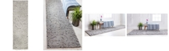 "Bridgeport Home Malloway Shag Mal1 Gray 2' x 6' 7"" Runner Area Rug"