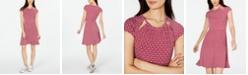 Michael Kors Printed Cutout-Neck Dress, in Regular & Petite Sizes