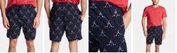 Nautica Men's Cotton Hockey-Print Pajama Shorts