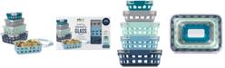 Ello DuraGlass Meal Prep Full Week 10-Pc. Food Storage Container Set, Blue