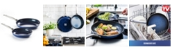 "Blue Diamond Diamond-Infused 9.5"" and 11"" Frying Pan Set."