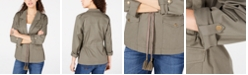 American Rag Juniors' Notched-Collar Drawstring Jacket, Created for Macy's