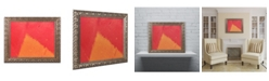 """Trademark Global Claire Doherty 'Abstract Orange Triangle' Ornate Framed Art - 20"""" x 16"""""""