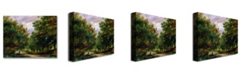 """Trademark Global Pierre Auguste Renoir 'The Road near Cagnes' Canvas Art - 32"""" x 26"""""""