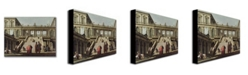 """Trademark Global Canaletto 'Castle Courtyard 1762' Canvas Art - 47"""" x 35"""""""