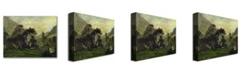 "Trademark Global Charles Daubigny 'The Mahoura at Cauterets' Canvas Art - 24"" x 18"""